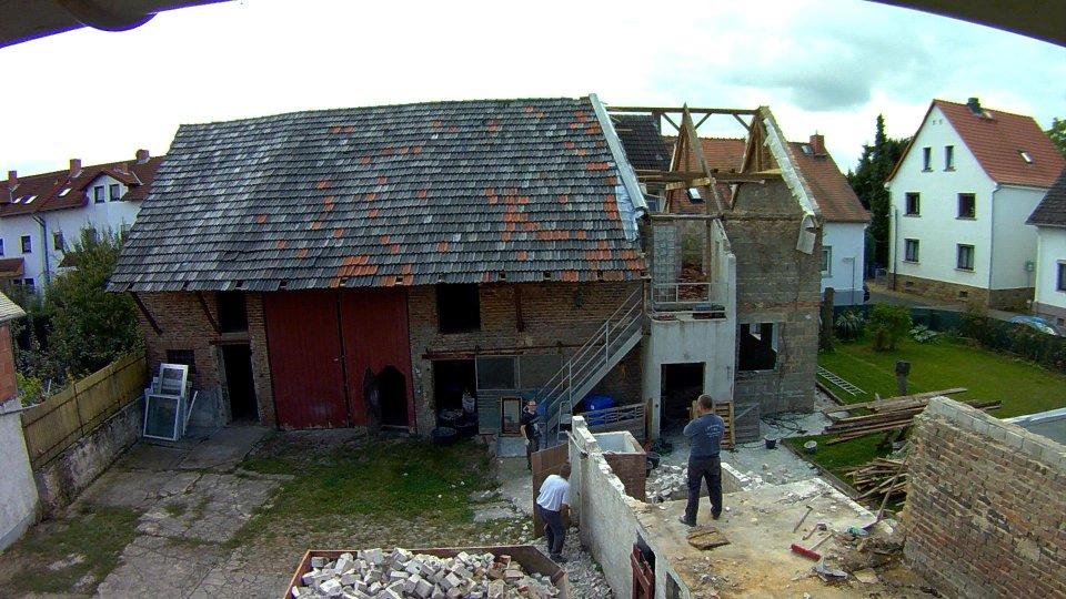 Abriss Nebengebäude Tag 1