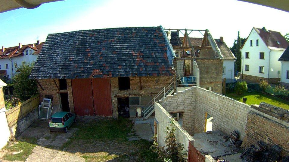 Abriss Dachstuhl Backstube