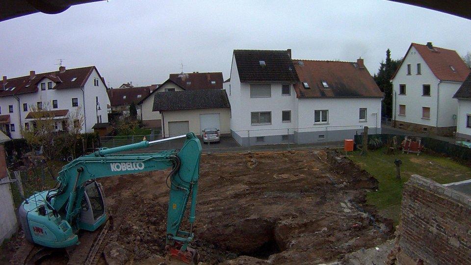 Baubeginn – Erdarbeiten Tag 1